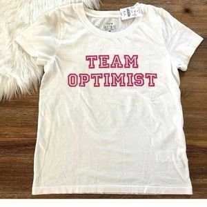 J crew factory team optimist pink t shirt